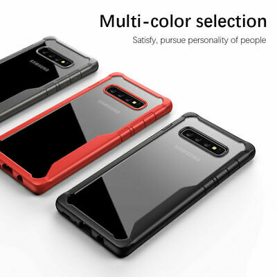 For Samsung Galaxy S10 Plus S10E Hybrid Shockproof Soft Bumper Clear Case Cover