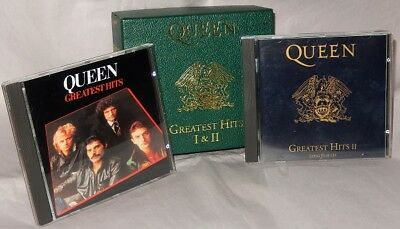 QUEEN greatest hits 1 & 2 UK IMPORT 1992 LTD EMI DELUXE 2 CD BOX SET brian may