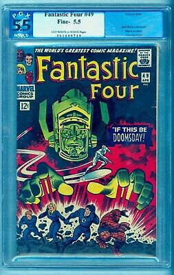 Fantastic Four 49 Pgx 5.5 ~ Clean ...press ...upgrade? ~ See Our Cgc 7.0 Auction