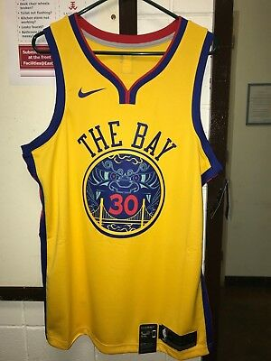 NIKE Stephen Curry  30 Mens Sz L Golden State Warriors City THE BAY Jersey   110 d5dd14382
