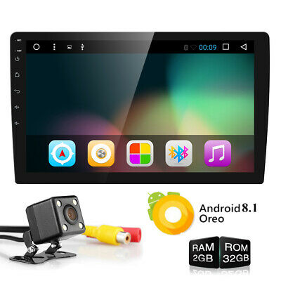 Double 2Din 10.1inch Android 8.1 Quad Core Car Radio In Dash Stereo GPS 4G OBDII