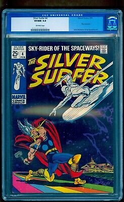 Silver Surfer 4 Cgc 9.0 ~ Gorgeous Unpressed Copy Bright Colors ~ Upgrade?