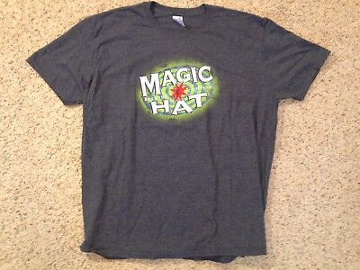 Magic Hat Brewing Company Logo Breweriana Gray Men s Shirt Size X-Large 995a6916c13a