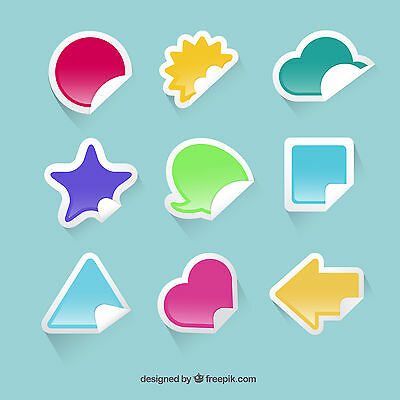 Printing Service Custom Stickers Promotional Transparent Vinyl Stickers A4 A3