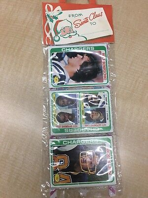 1978 TOPPS FOOTBALL UNOPENED HOLIDAY RACK PACK * All Chargers * Klein Front