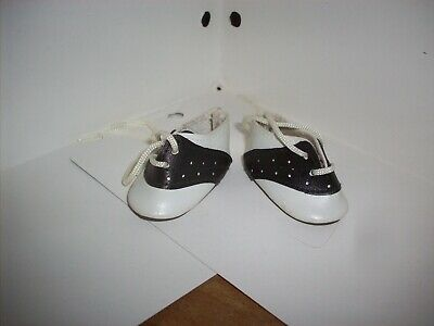 BLACK & WHITE Saddle Oxfords Doll Shoes 1 INCH