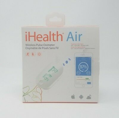 iHealth Air Wireless Pulse Oximeter Android & Apple iOS Bluetooth Fingertip