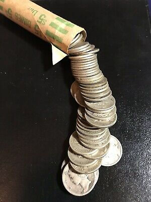 Roll of 50 Mercury Dimes ~ 90% Silver ~ $5 Face Value~Bonus coins~FREE SHIPPING~