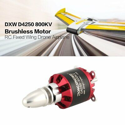 DXW D4250 800KV 3-7S Outrunner Brushless Motor for RC Fixed Wing Airplane EC