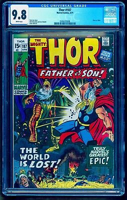THOR 187 CGC 9.8 NM/MINT ~ LESS THAN 6 TOP GRADE WHITE PAGE COPIES ~ ODIN v THOR