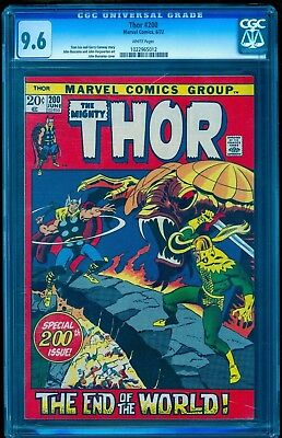 Thor 200 Cgc 9.6 Nm+ ~ Very Rare White Pages ~ Only 8 Top Grade 9.8 ~ Loki Cover