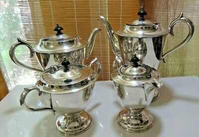 Vintage Hecworth Silver Plated Tea Set - Excellent Example - Silver Plate EPNS