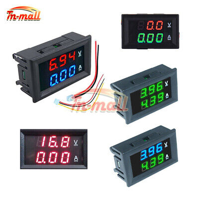 DC 0-100V 10A Digital Dual LED Display Voltmeter Ammeter Voltage AMP Power