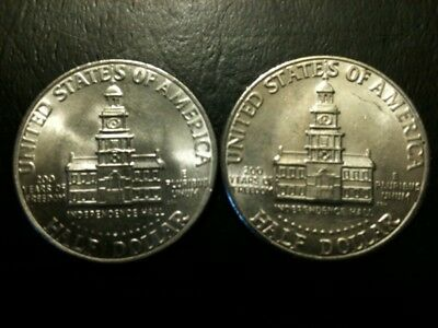 1976 P&D Kennedy Half Dollar Set AU+/BU Clad no Silver US 50 Cent BiCentennial