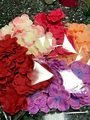 100 pcs Silk Flower Petals for Wedding Valentine's day Girl Basket Decoration