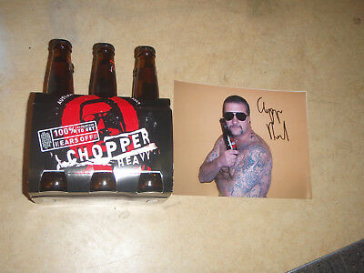 """6 Pack of """"Chopper Heavy"""" Beer Plus a Signed Photo of Mark Brandon Chopper Read"""