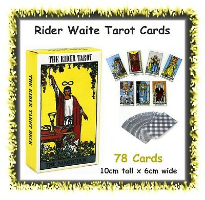 Rider Waite Tarot Deck - 78 cards - fortune telling - cards 10cm x 6cm - new age