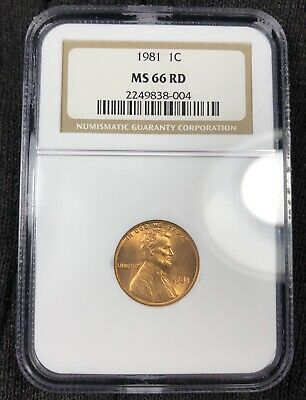 1981 P Ngc Ms66Rd Red Lincoln Memorial Cent