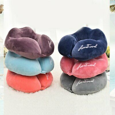 Inflatable Travel Pillow U Shaped Inflatable Neck Cervical Head Pillow AF