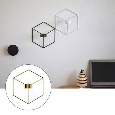 3D Geometric Candlestick Wall Candle Holder Nordic Style Sconce Home Decor AF