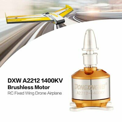DXW A2212 1400KV 2-4S Outrunner Brushless Motor for RC Fixed Wing Airplane EC