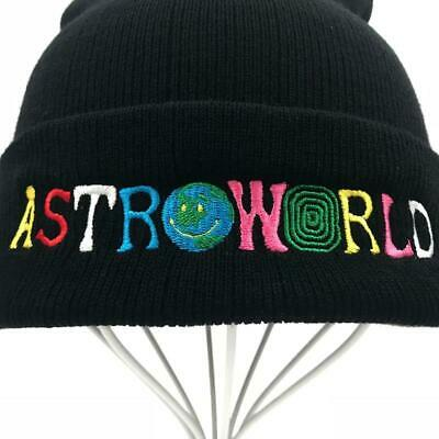 520429acb2d Travi  Scott Knitted Hat ASTROWORLD Beanie embroidery Ski Warm Winter Unisex  Sku