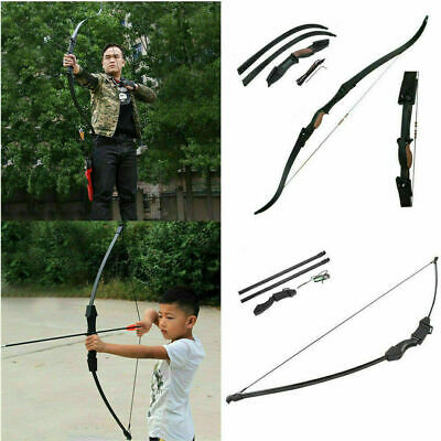"""56"""" Takedown Recurve Bow Archery Arrow Rest Hunting Bow 25LBS Right&Left For CS"""