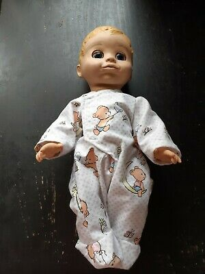 Homemade Baby Luvabella White with Bears Coverall Pyjamas