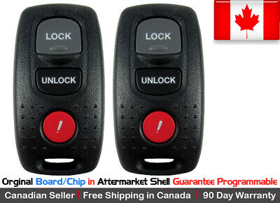 2x OEM Original Keyless Entry Remote Key Fob For 2003-2006 MAZDA 3 6 KPU41846