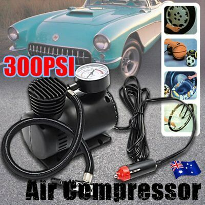 300PSI 12V AIR Compressor Pump Tyre Inflator Electric BICYCLE BALL BIKE CAR AU