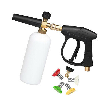 M22 1/4'' Pressure Washer Jet Gun Nozzle Tip Foam Lance Gloves Car Wash Kit