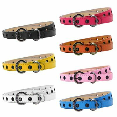Toddler Kids Baby PU Leather Waistband Girls Boys Adjustable Buckle Belt Strap