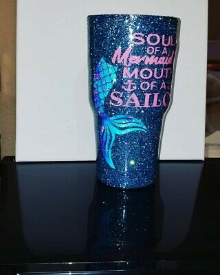 CUSTOM PERSONALIZED TUMBLERS  Stainless steel epoxy  Glitter, name,paint,  image
