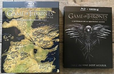 "Blu-ray ""Game Of Thrones"" lot saisons 1 à 4 comme neuf"