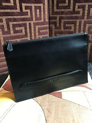 Rare COACH leather men's clutch MANHATTAN Black leather SPRING 2019 style 38150