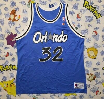 20a4d1536 Vintage Shaquille O Neal Orlando Magic Champion NBA Jersey Blue 90s Size 48