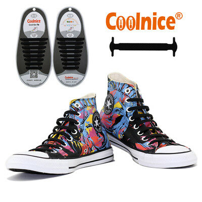 Lazy No Tie Shoe Laces Silicone Shoelace Trainers Boot Laces for Adult Sports