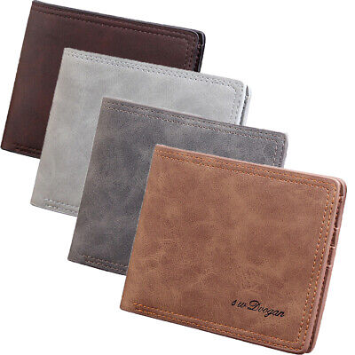 Fashion Slim PU Leather Mens Purse Bifold Credit Card Wallet  Holder  Purse
