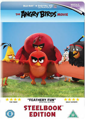NEW The Angry Birds Movie Limited Edition Steelbook Blu-ray Animation Family