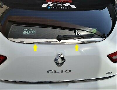 2012Up Renault Clio IV HB Chrome Rear Windows   Under Trim Cover S.STEEL