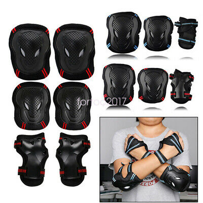New 6pcs Skating Protective Gear Sets Elbow Knee Pads Bike Skateboard Adult Kid