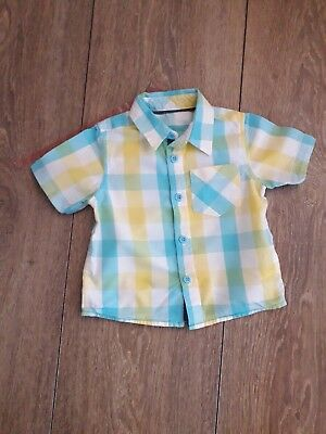 Baby Boys Check Shirt Age 9-12 Months