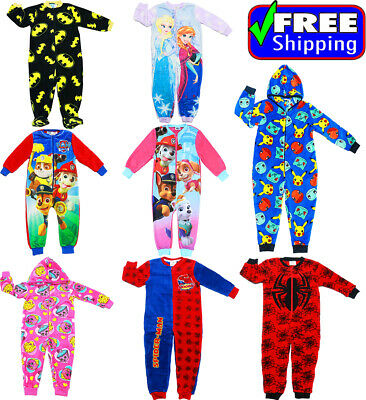 New Size 4-12 Kids Boys Pjs Winter Pyjama Jumpsuit Paw Frozen Sleepwear Bodysuit