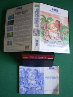 Sega Master System CHUCK ROCK II Son of Chuck Complet Boxed Manual Pal