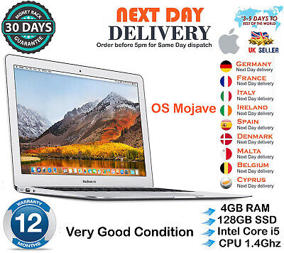 "Apple MacBook Air 13.3"" Core i5 1.4GHz 4GB RAM 128GB SSD 2014 Very Good Conditio"