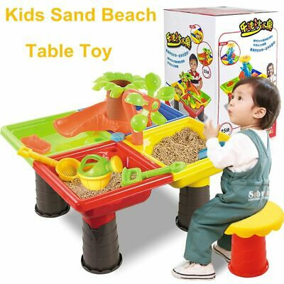 Beach Toy Play Set 22Pcs Sand & Water  Box Kids Children Outdoor Activity Table