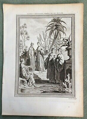 China Women 1754 Bellin Antique Copper Engraved Plate 18Th Century