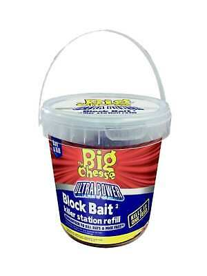 The Big Cheese Ultra Power Block Bait Rodent Killer Mouse Bait Rat Poison 15x20g