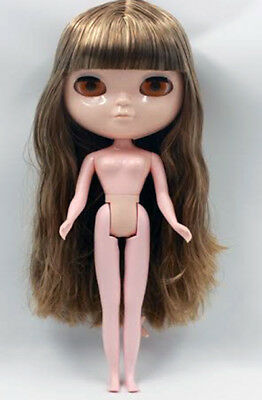 Nude ICY Doll (BLYTHE´s Twin. MUÑECA), LIGHT BROWN HAIR. Perfect for CUSTOM, NEW