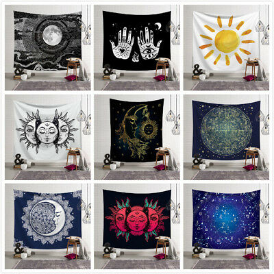 Psychedelic Moon And Sun Wall Hanging Beach Towel Art Tapestry Dorm